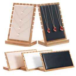 $enCountryForm.capitalKeyWord Australia - Bamboo Jewelry Pendant Necklace Display Holder Rack Organizer Storage Case T190629