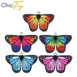 butterfly fairy dresses Australia - ChicTry Kids Girls Butterfly Wings Cape Children Halloween Party Cosplay Fairy Dress Up Dance Performance Costume Accessories