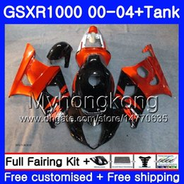 Pink fairings online shopping - Tank For SUZUKI GSX R1000 GSXR1000 HM GSXR K2 GSX R1000 K3 Orange blk hot GSXR Fairing