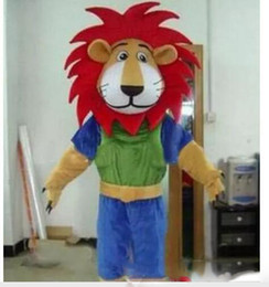 07541ce9c drop shipping Fire Red Manes Athlete Lion Animal Mascot Costumes Halloween Costume  Cartoon Suit Fancy Dress Outfit
