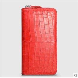 Crocodile Hand Bags Australia - Cestbeau import Nile crocodile wallet crocodile belly hand bag for ladies advanced area production multi - card