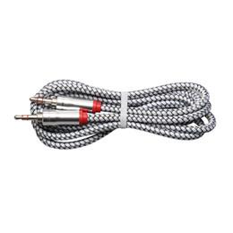 Mm Audio Australia - Audio Jack 3.5 mm Male to Male 1m leather weaving audio line Audio Aux Cable For iPhone Car Headphone Speaker Wire Line Aux Cord 300pcs