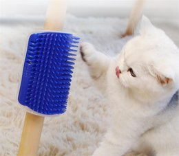 Wholesale Pet Cat Self Groomer For Cat Grooming Tool Hair Removal Comb Dogs Cat Brush Hair Shedding Trimming Massage Device With Catnip Free Ship