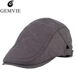 27f1d19fb4bfc Unisex Beret Hat Men Women Duckbill Ivy Cap Golf Driving Newsboy Hat Cabbie  Flat Cap Visor