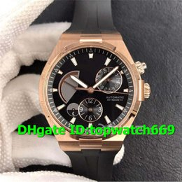 $enCountryForm.capitalKeyWord Australia - TWA Luxury Watch 47450 B01R-9229 Watch Dual Time Power Reserve 18K Rosegold Case Black Dial Rubber Strap 1222 Automatic Movement Men Watch