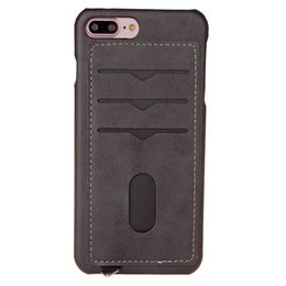 $enCountryForm.capitalKeyWord UK - Non-slipCell Phone Cases for iPhone 7 8 PLUS mobile phone bag sleeve creative insert card covers the cover Card Pocket