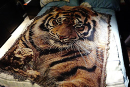 countries animals Australia - Tapestries Foreign trade original single blanket export country Nordic tapestry decorative blanketS animal head tiger domineering 150X210CM