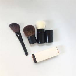 CC Retractable Kabuki Brush   Petit Pinceau Kabuki   Angled Contouring Brush - Quality Blush Powder Foundation Makeup Blending Tool on Sale