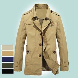 Large Lapel Suits Australia - 2018 men's jacket long paragraph small suit large size men's outdoor cotton windbreaker 5793