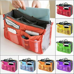 cosmetic bag insert liners NZ - 7 Colours Organizer Insert Liner Travel Bag Organizer Large Purse Ladies Cosmetic Women Cosmetic Bags Ladies Travelling Bags