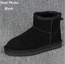 Moda klasik Australie kış çizme deri bayan botları Açık kar botları