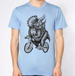 $enCountryForm.capitalKeyWord NZ - Triceratop T-Shirt Dinasour Riding Bike Top Bicycle Funny Brand shirts jeans Print