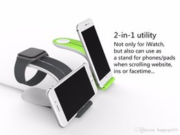 Universal Smart Watch Australia - Good quality E407 Hot Products Stand Bedside Smart Charging Dock Station IWatch Bracket Apple Watch Phone Holder Universal 2In1