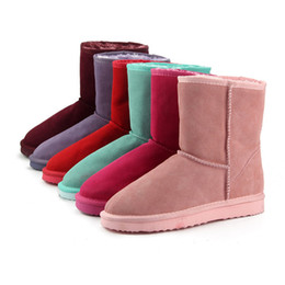 220b72e1c3f4d7 Womens Designer Boots Classic Waterproof Genuine Cowhide Leather Snow Boots  Wool Women Boots Warm Winter Shoes for Women Large