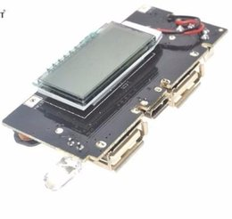 $enCountryForm.capitalKeyWord Australia - Dual USB 5V 1A 2.1A Mobile Power Bank 18650 Battery Charger PCB Power Module Accessories For Phone DIY New LCD Module Board