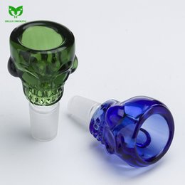 $enCountryForm.capitalKeyWord Australia - Colorful BIG Skull Style Herb Holder 14mm 19mm joint Glass Bowl Glass Slide Smoke Accessory for Glass Bong Oil Rings Smoking Tool 057