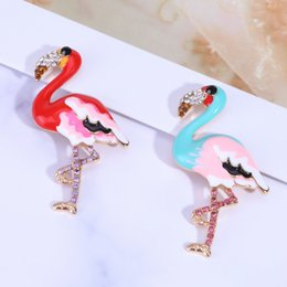 $enCountryForm.capitalKeyWord Australia - 7 Styles Brooch Cartoon Animal Shape Flamingo Pattern Stylish Breastpin Brooch Pin Jewelry Accessories Decor Brooches for Girls Women