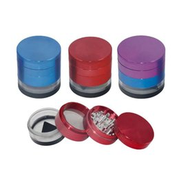 $enCountryForm.capitalKeyWord Australia - 53mm Metal Four-Layer Smoke Grinder Double-Color Transparent Bottom Cover