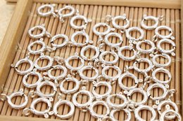 connector 5.5 Australia - 100pcs lot 5 5.5 6 7 8 10mm Sterling Silver Color Spring Ring Clip Buckle for Bracelet Necklace Connector hardware accessories