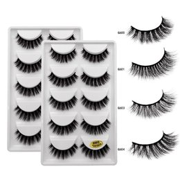 $enCountryForm.capitalKeyWord Australia - 5 Pairs Mink False Eyelashes 1 box 3D Natural Long Makeup Full Strip Fluffy Lashes Mink Eyelash Extension
