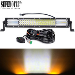 Discount amber led driving lights - 22 Inch 342W Amber White Led Driving Light Bar For Car 12V 24V 4x4 Offroad Trucks ATV 4WD SUV Combo Beams Fog Lamp Work