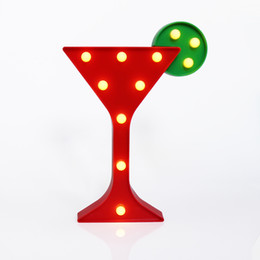 $enCountryForm.capitalKeyWord Australia - Wine glass shape 3D Lamp Red color night lights Decoration For Bar Wedding Party Christmas Light