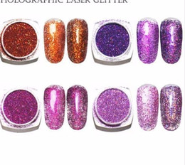 glitter pots UK - 2g pot, 0.2mm (1 128 008) Holographic Acrylic Glitters Powder Dusts Chrome Pigments For Nail ,tattoo Art Decorations
