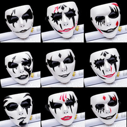 Clown Paintings Australia - Hip-Hop Hand-Painted Clown Horror Masks For Festival Events Masquerade Dances Ugly&Funny Clown Mask Adult Cosplay Halloween Party Decoration