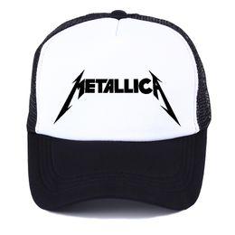 Free Cooling Fan Australia - 2019 Women Men Cool Rock Black Baseball Caps Metallica Band Fans Cap Metal Rock Music Fans Cotton Baseball Trucker Caps Hat