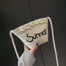 Best White Bags Australia - Crossbody Single Shoulder Bag Women Straw Embroidery Bucket Bag for Party Shopping Best Sale-WT