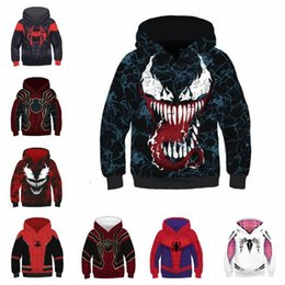 Spiderman children clotheS online shopping - 10 Styles Spider Man Into the Spider Verse Hoodies Children Spiderman Venom Long Sleeves D Hoodies Home Clothing CCA11067
