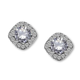 Discount daily wear earrings - Cubic Zircon Stud Earrings CZ Rhinestone Hypoallergenic High Quality Round Multicolor Ear for Elgant Women Girls Daily W