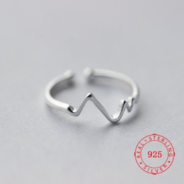 $enCountryForm.capitalKeyWord Australia - China import jewelry Wholesale Fashion 100% S925 Sterling Silver Simple Thin Line Curve Wave Wild Smooth Ring