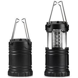 Venta al por mayor de 30 bombillas LED Linterna portátil 60lumens Lámpara plegable de la tienda de campaña Acampar al aire libre Senderismo Luz iluminación de la mano Linternas Ahorro de energía