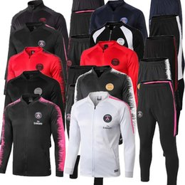 jackets tracksuits Australia - 19 20 CAVANI Paris soccer jacket training suit 2018 psg MBAPPE CHANDAL maillot de football full zipper tracksuit