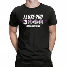 $enCountryForm.capitalKeyWord Australia - Men's I Love You 3000 Thanks Tony Iron Man T Shirts Marvel Pure Cotton Short Sleeve Tees Printing T Shirt