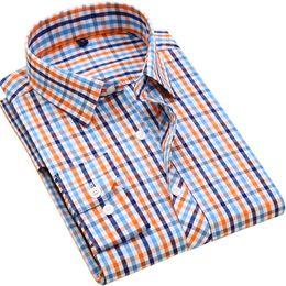 $enCountryForm.capitalKeyWord UK - 100% Cotton Men's Plaid Casual Shirts Men's Leisure Social Shirts Contrast Color Fashion Design Stylish Style Men's Clothing Y190506