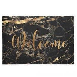 Eleganti similpelle nero di marmo oro vene Benvenuto Mats per Front Door gomma Piano d'ingresso per Fumatori Elettrodomestici Sundries Rug Carpet Fa in Offerta