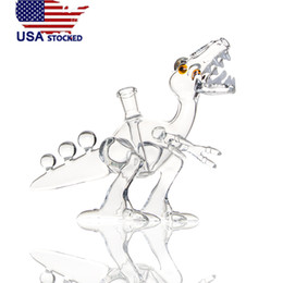 Discount dino pipe - USA stocked Raptor Dino Rigs oil rigs water pipes bongs with joint 14.5mm