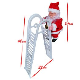 outdoor festival decorations Australia - New Santa Claus Electric Climbing Ladder Christmas Home Door Wall Decoration Party DIY Crafts Festival Gift For Kids A03