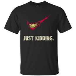 Kids Navy Shirts Australia - Black, Navy T-shirt Just Kidding Collection Scary Movie Short Sleeve S-3XL Men Women Unisex Fashion tshirt Free Shipping