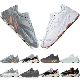 Discount kanye west sneakers cheap With Box Cheap Kanye West 700 Inertia Mauve Salt 700s V2 Static Geode 3M Mens Running shoes for men Women sports sneakers 5-11.5