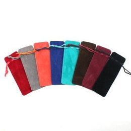wedding wholesale cosmetic bag Australia - Jewelry Cosmetic Bag Colorful Velvet Jewelry Drawstring Bags Velvet Pocket Perfume Toothpick Lipstick Bag Gift Bag EEA960