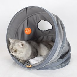 warm winter bedding 2019 - Foldable Warm Cat Cave House Pet Bed Pet Dog House Soft Dog Cushion Cat Bed Winter Padded Mat Kennel New discount warm w