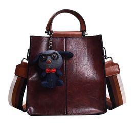b2b7ef82d7a7 good quality Brand Handbags Women Pu Tassel Dog Solid Shoulder Bag Ladies  Pu Leather Messenger Bag Female Fashion Crossbody Bags