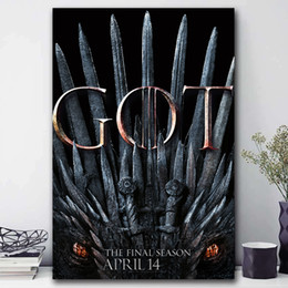$enCountryForm.capitalKeyWord NZ - The Eighth And Final Season Of Game Of Thrones Canvas Painting HD Wall Picture Poster And Print Decorative posters image Home Decor
