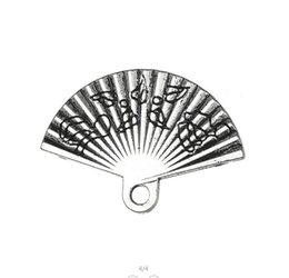 Silver Tone Floating Charm Australia - Myshape Antique Silver Tone Hand Fan Floating Charms Pendants in Wholesale Charms Alloy Metal Jewelry 20pcs lot