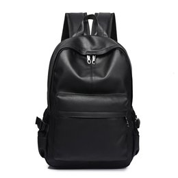 leather business backpacks for men Canada - New Fashion Men Backpack Men's Backpacks for Teenager Luxury Designer PU Leather Backpacks Male High Quality Travel Backpacks CJ191212