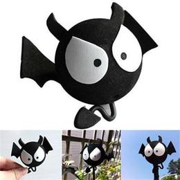 Cartoon Bats Australia - Exterior Accessories Stickers 1 2Pcs Big Eyes BAT Antenna Ball Aerial Topper Balls Toppers Cartoon Car Roof Decoration For Car