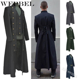 x men cosplay costumes 2021 - WEPBEL Halloween Carnival Gothic Coat for Men Medieval Cosplay Mens Party Tuxedo Punk Adult Clothing Middle Ages Costumes